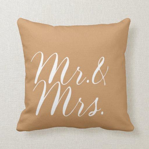 Sr. y señora Pillow para los recienes casados Cojin