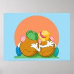 Sr. y señora Potato Head en la puesta del sol Póster