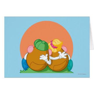 Sr. y señora Potato Head en la puesta del sol Tarjeta De Felicitación