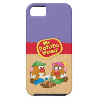 Sr. y señora Potato Head - hoguera iPhone 5 Carcasas