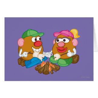 Sr. y señora Potato Head - hoguera Tarjeta De Felicitación