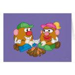 Sr. y señora Potato Head - hoguera Tarjeton