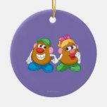 Sr. y señora Potato Head Holding Hands Adorno De Navidad