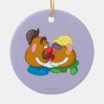 Sr. y señora Potato Head Kissing Ornamentos De Navidad