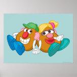 Sr. y señora Potato Head que coloca llevando a cab Póster