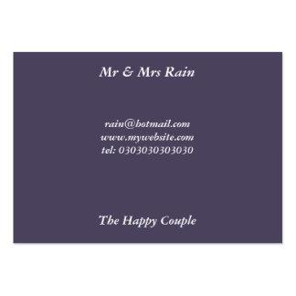 Sr. y señora Rain Tarjetas De Visita Grandes