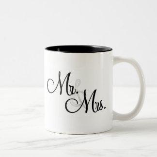 Sr. y señora regalo de la taza de café