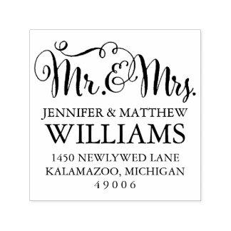 Sr. y señora remite del   sello automático