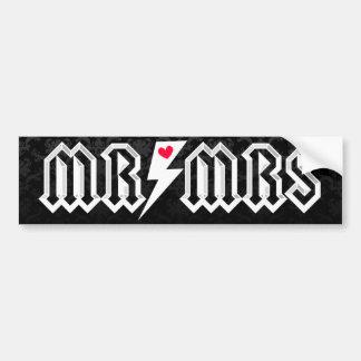 Sr. y señora Rocker - pegatina para el parachoques Etiqueta De Parachoque