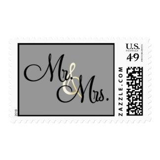 Sr. y señora sellos postales