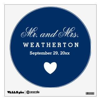 Sr. y señora simples Wedding Names Date A57 del