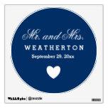 Sr. y señora simples Wedding Names Date A57 del Vinilo
