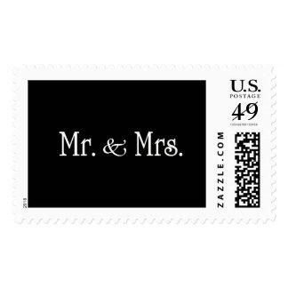 Sr. y señora timbre postal
