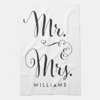 Sr. y señora toalla de cocina