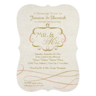 Sr. y señora Typography Flourish Scroll Watercolor Comunicados