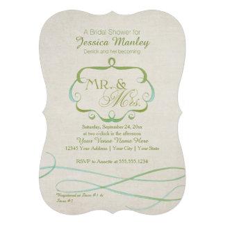 Sr y señora Typography Flourish Scroll Watercolor