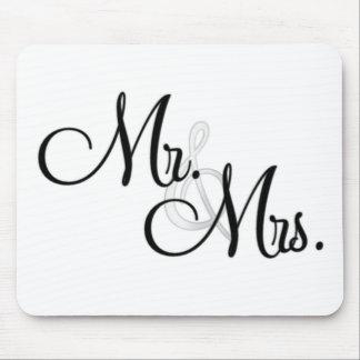 Sr. y señora Unique Items Tapete De Raton