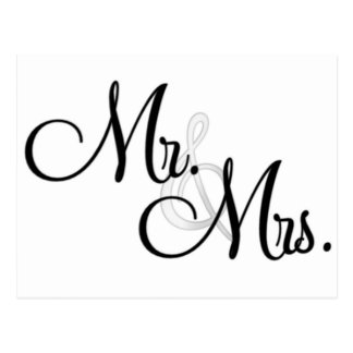Sr. y señora Unique Items Tarjetas Postales