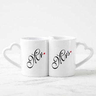 Sr. y señora Wedding Couple Tazas Para Enamorados