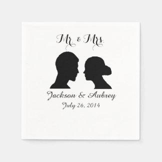 Sr. y señora Wedding Napkins Servilleta Desechable