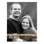 Sr. y señora Wedding Thank You Card - Brown Tarjetas Postales