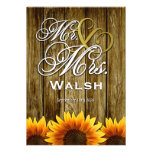 Sr. y señora Western Sunflower Wedding Invitations