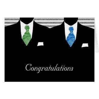 Sr. y Sr. dos novios que casan enhorabuena Tarjeta De Felicitación
