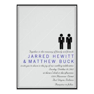 Sr. y Sr. Dos novios que casan la invitación