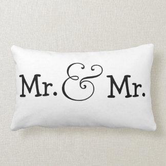 Sr. y Sr. dos regalo de boda de los novios Cojin