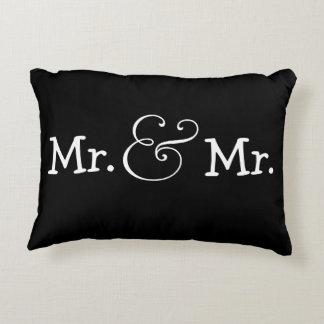Sr. y Sr. dos regalo de boda gay del novio Cojín