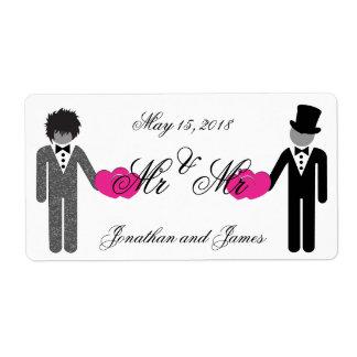 Sr. y Sr. etiquetas del boda de la botella de agua Etiqueta De Envío