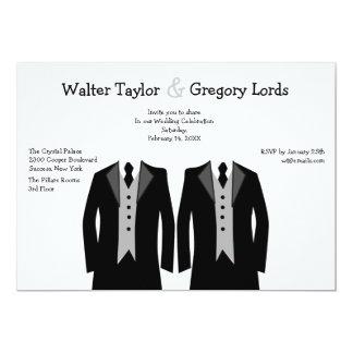 Sr. y Sr. Gay Wedding Invitation Comunicado Personalizado