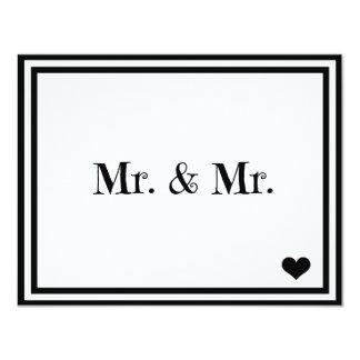 """Sr. y Sr. Invitación 4.25"""" X 5.5"""""""