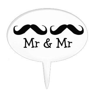 Sr y Sr Mustache Wedding v2 Decoraciones De Tartas