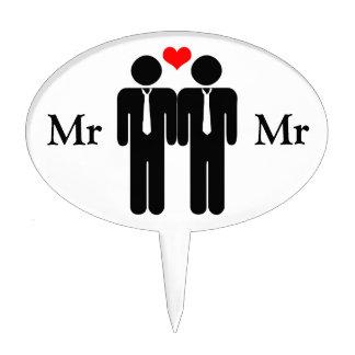 Sr y Sr primero del pastel de bodas Figuras Para Tartas