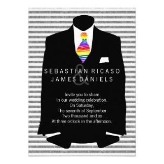 Sr y Sr Suit y boda gay del lazo del arco iris Comunicados