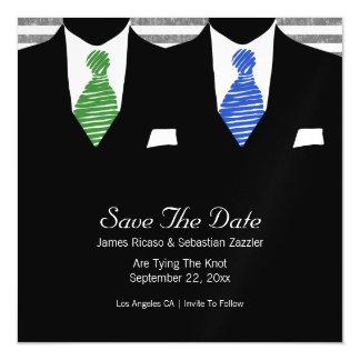 Sr. y Sr. Suit y el gay del lazo ahorran el boda Invitaciones Magnéticas