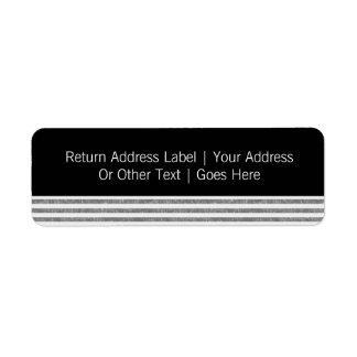Sr. y Sr. Text Template Personalized Etiquetas De Remite