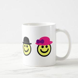Sr. y taza de la cara de Mrs.Smiley