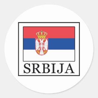 Srbija Classic Round Sticker