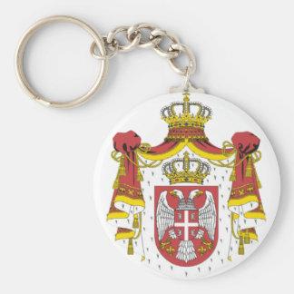 Srbija Grb -  Veliki / Serbian Coat of Arms - Big Basic Round Button Keychain