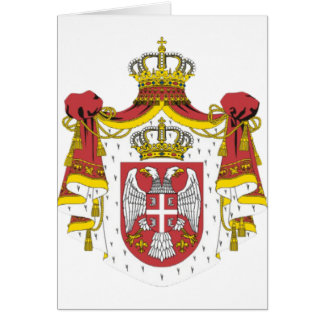 Srbija Grb -  Veliki / Serbian Coat of Arms - Big Card