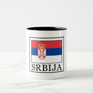 Srbija Two-Tone Coffee Mug