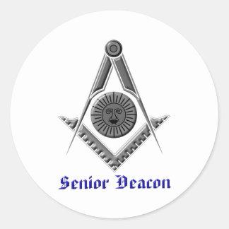 srdeacon classic round sticker