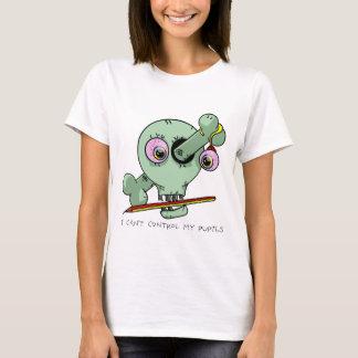 Sressed Teacher Funny Skull Customizable T-Shirt