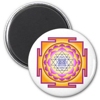 Sri Chakra Goddess Shri Lalitha Tripura Sundari 2 Inch Round Magnet