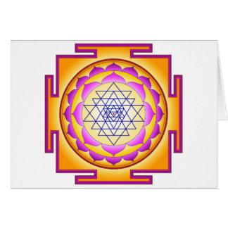 Sri Chakra Goddess Shri Lalitha Tripura Sundari Greeting Cards