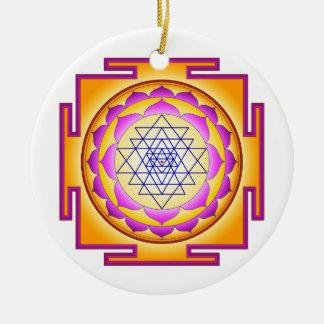 Sri Chakra Goddess Shri Lalitha Tripura Sundari Ceramic Ornament