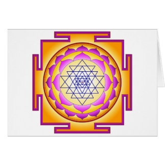 Sri Chakra Goddess Shri Lalitha Tripura Sundari Greeting Card