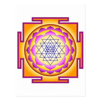Sri Chakra Goddess Shri Lalitha Tripura Sundari Postcard